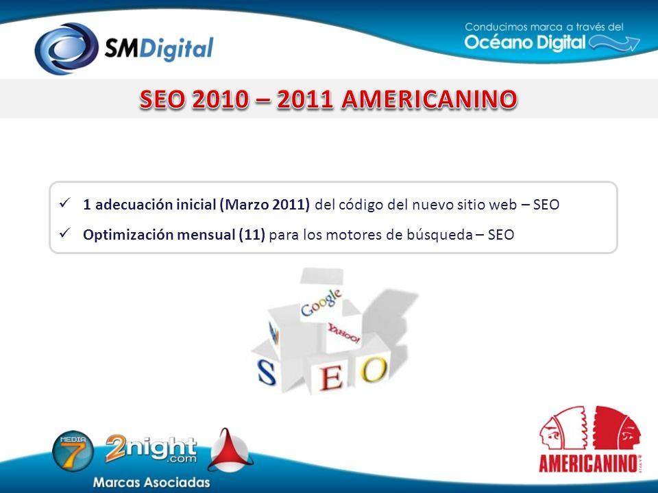 1 adecuación inicial (Marzo 2011) del código del nuevo sitio web – SEO Optimización mensual (11) para los motores de búsqueda – SEO