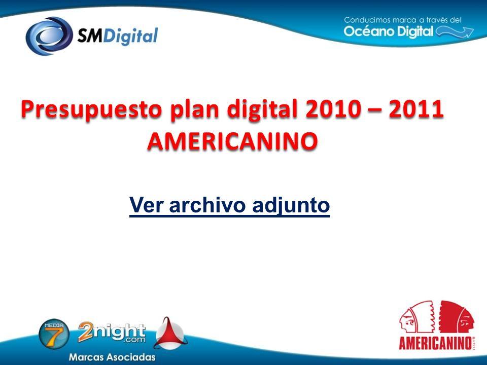 Ver archivo adjunto Presupuesto plan digital 2010 – 2011 AMERICANINO