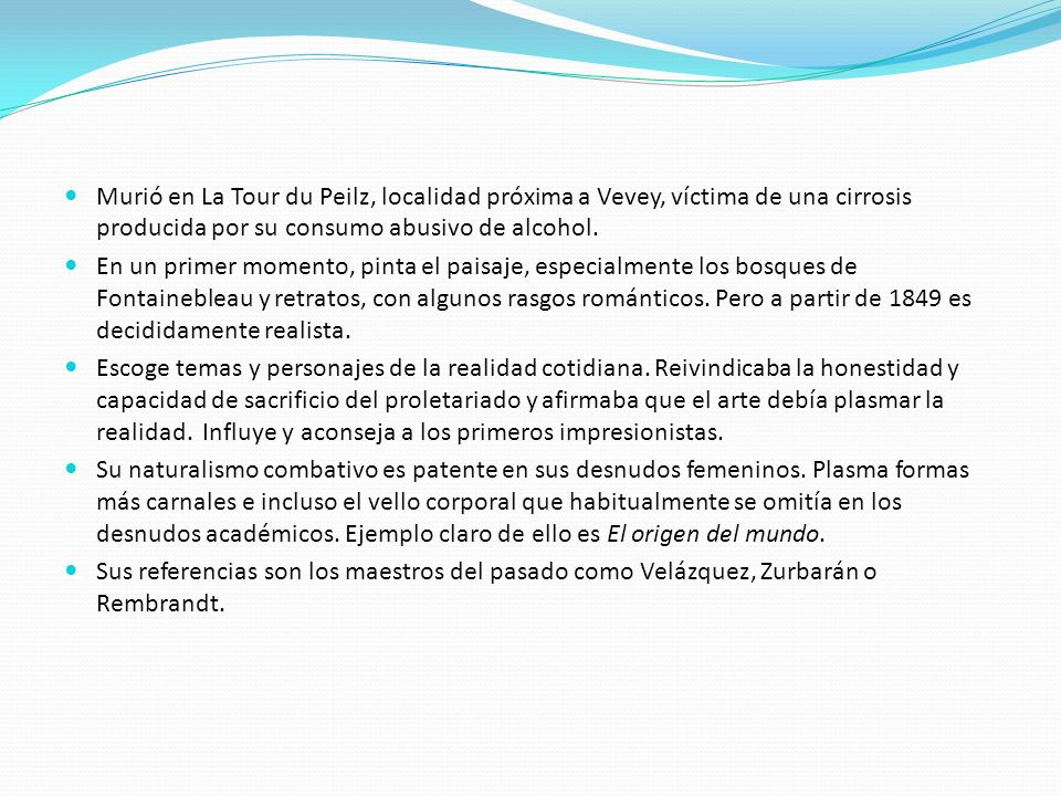 Murió en La Tour du Peilz, localidad próxima a Vevey, víctima de una cirrosis producida por su consumo abusivo de alcohol. En un primer momento, pinta