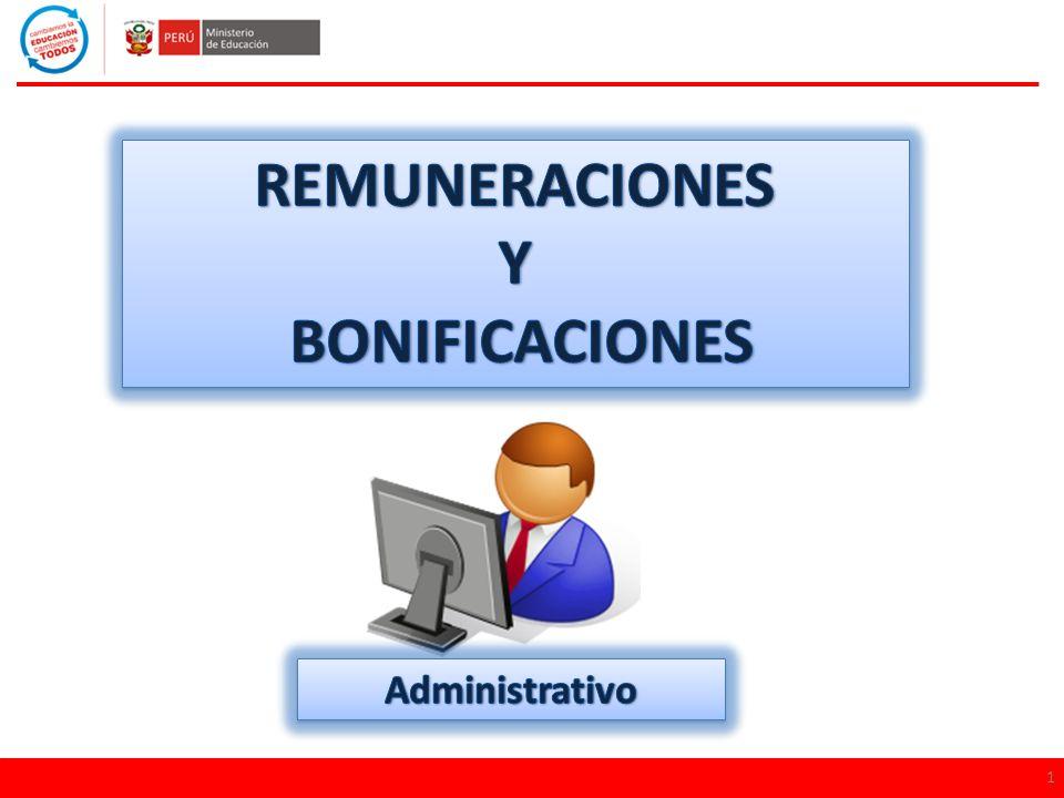 2 REMUNERACIONES Y BONIFICACIONES D. LEG. Nº 276