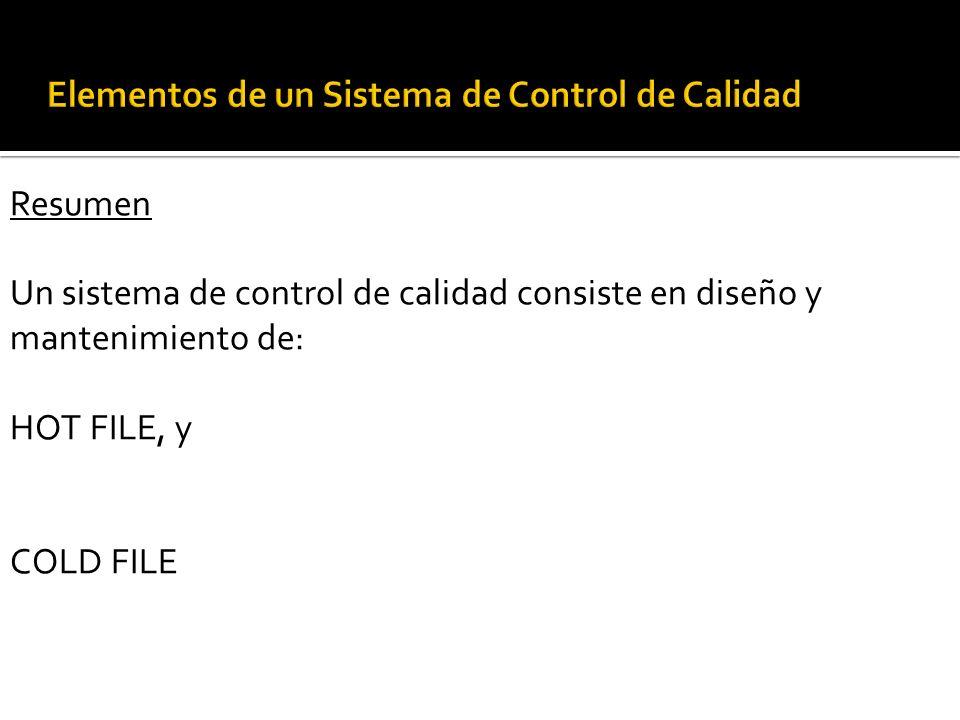 g. Documentación del sistema de control de calidad cont. … Una documentación adecuada relativa al seguimiento incluye: 1. Procedimiento de seguimiento