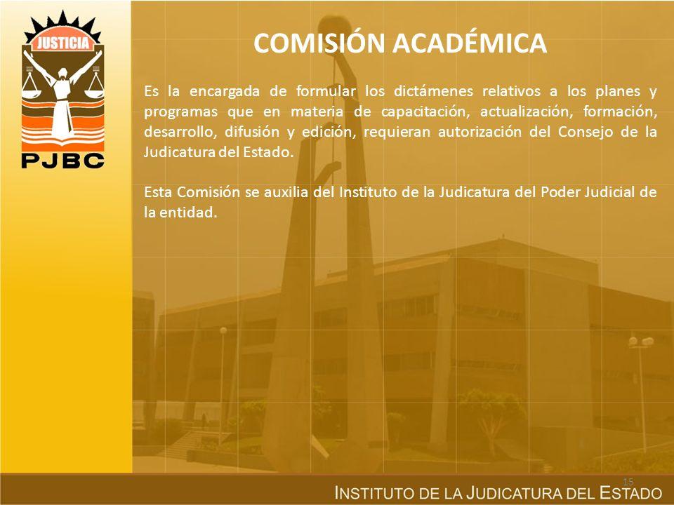 COMISIÓN DE CARRERA JUDICIAL Es la encargada del sistema de ingreso y promoción de los servidores públicos de carácter jurisdiccional, es decir, de qu