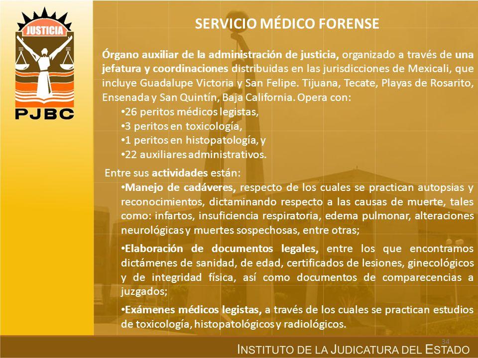 ÓRGANOS AUXILIARES Son auxiliares de la Administración de Justicia, conforme a la LOPJ: La Dirección de Prevención y Readaptación Social del Gobierno