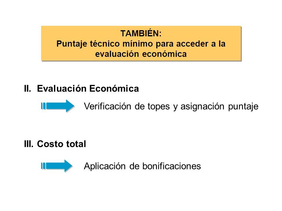 TAMBIÉN: Puntaje técnico mínimo para acceder a la evaluación económica II.
