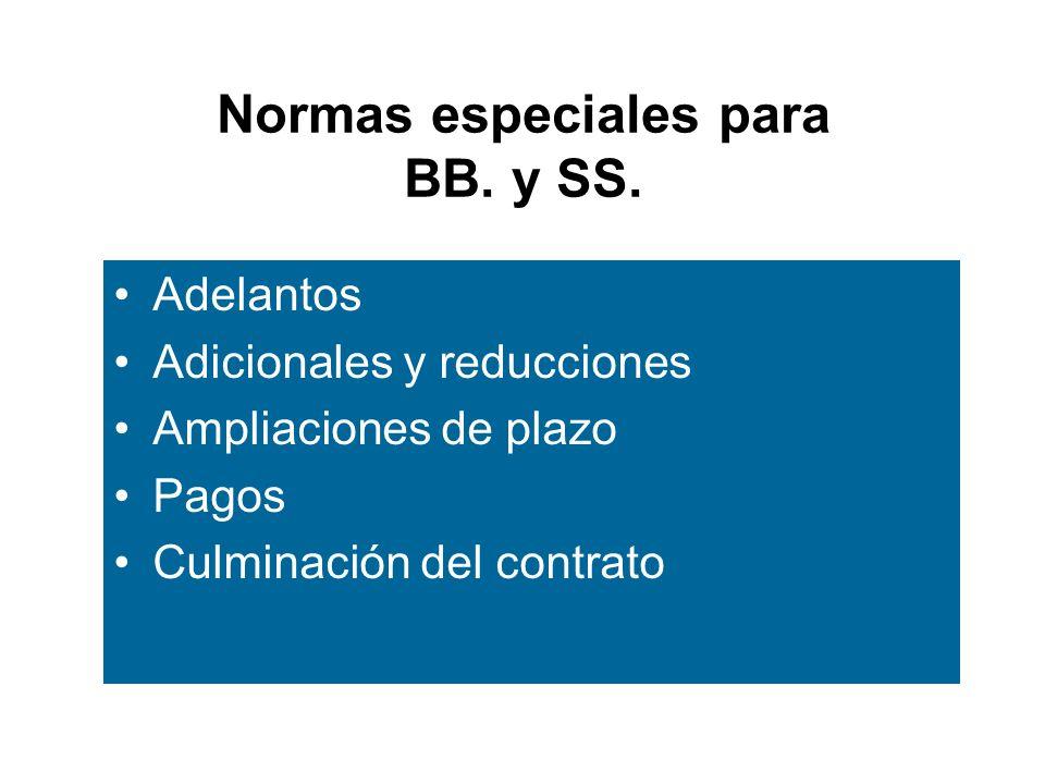 Normas especiales para BB.y SS.