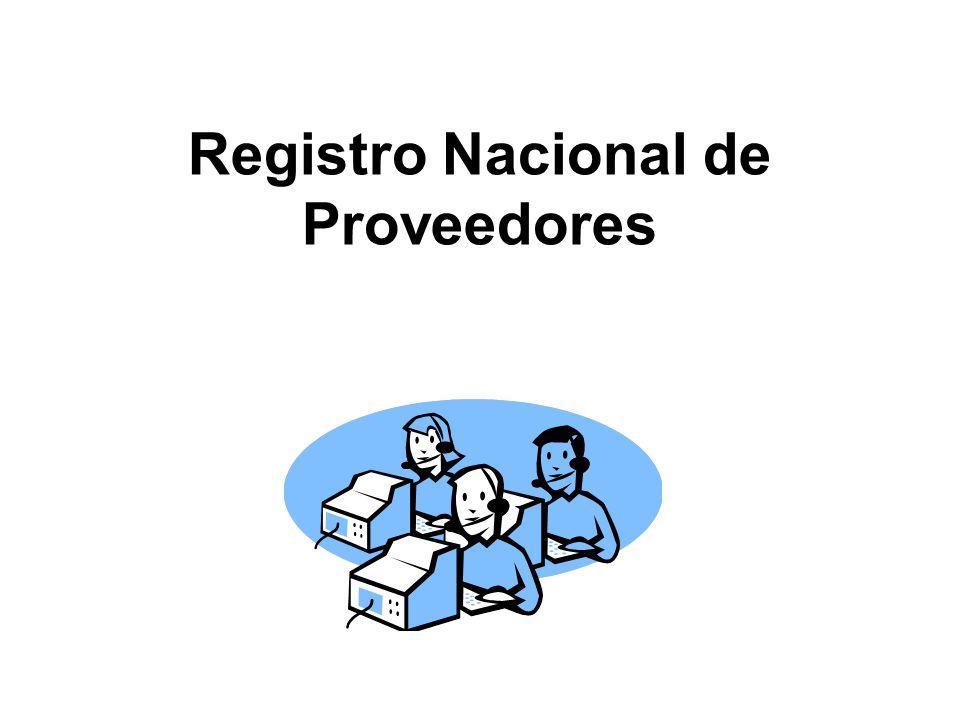 Registro Nacional de Proveedores