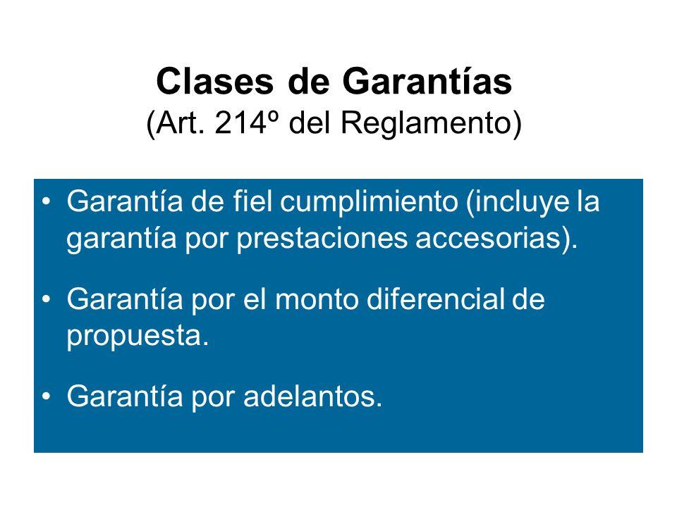 Clases de Garantías (Art.