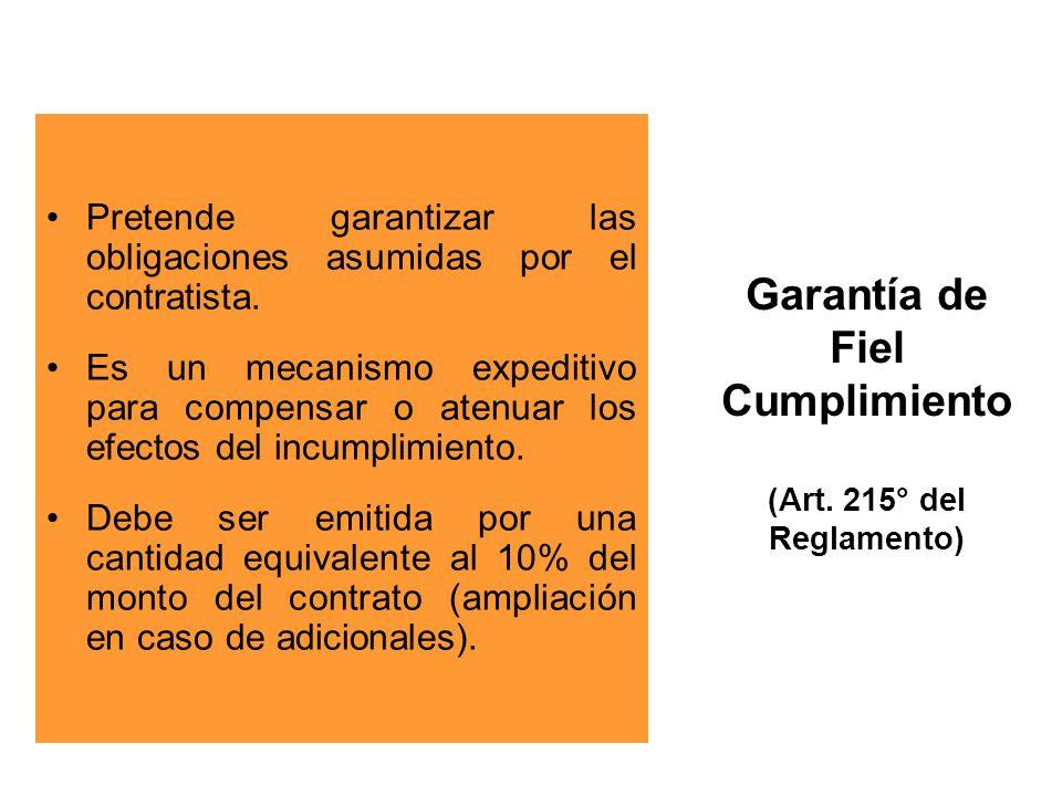 Garantía de Fiel Cumplimiento (Art.