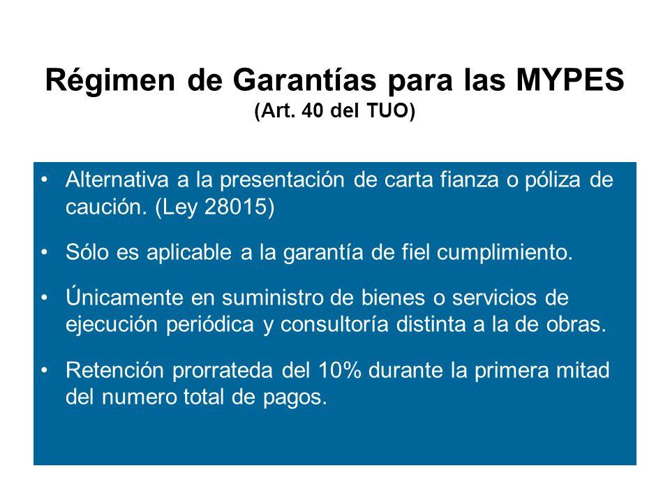 Régimen de Garantías para las MYPES (Art.