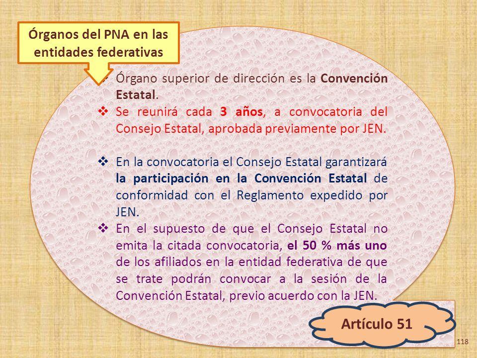 Órgano superior de dirección es la Convención Estatal. Se reunirá cada 3 años, a convocatoria del Consejo Estatal, aprobada previamente por JEN. En la