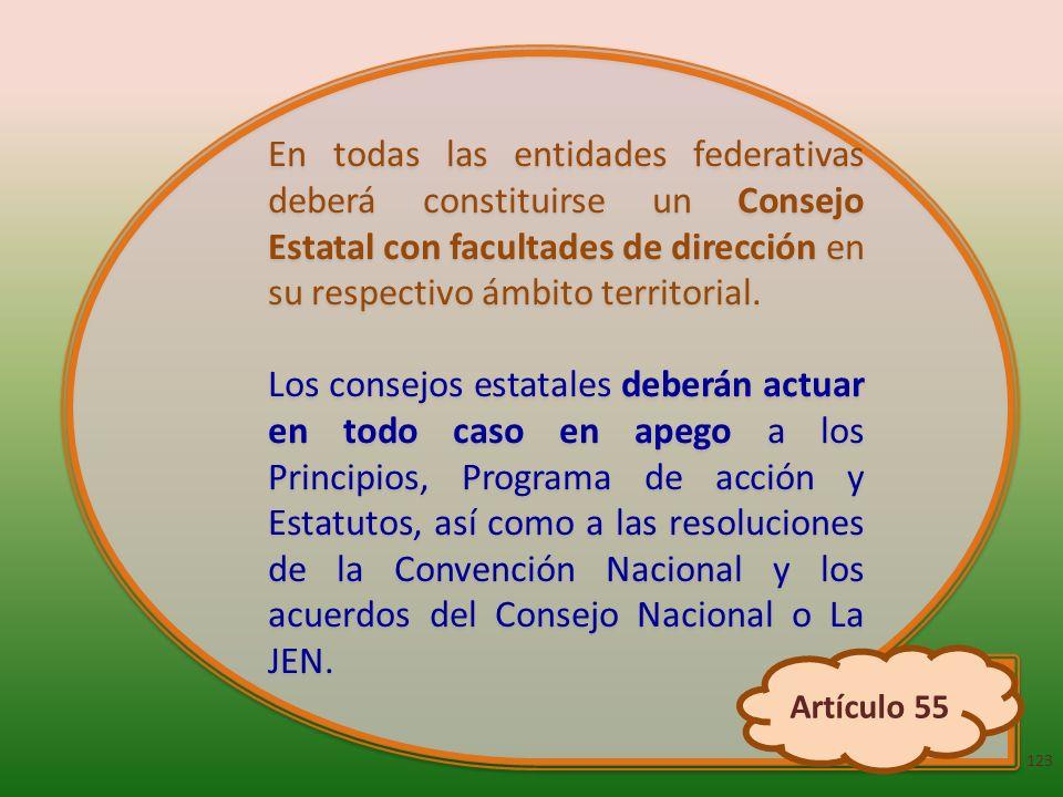 En todas las entidades federativas deberá constituirse un Consejo Estatal con facultades de dirección en su respectivo ámbito territorial. Los consejo