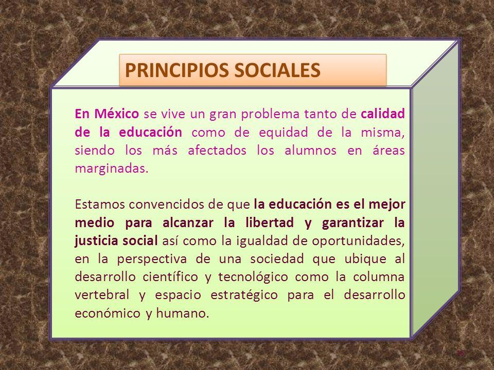 En México se vive un gran problema tanto de calidad de la educación como de equidad de la misma, siendo los más afectados los alumnos en áreas margina