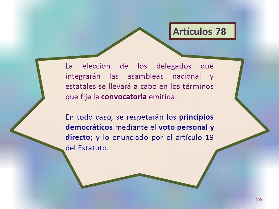La elección de los delegados que integrarán las asambleas nacional y estatales se llevará a cabo en los términos que fije la convocatoria emitida. En