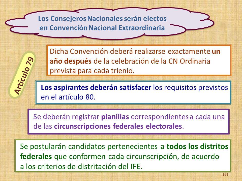 Se postularán candidatos pertenecientes a todos los distritos federales que conformen cada circunscripción, de acuerdo a los criterios de distritación