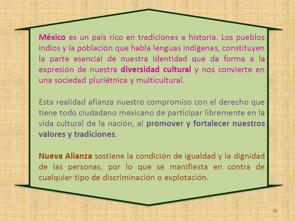 México es un país rico en tradiciones e historia. Los pueblos indios y la población que habla lenguas indígenas, constituyen la parte esencial de nues