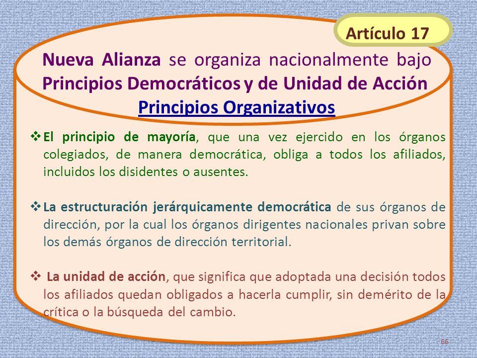 El principio de mayoría, que una vez ejercido en los órganos colegiados, de manera democrática, obliga a todos los afiliados, incluidos los disidentes