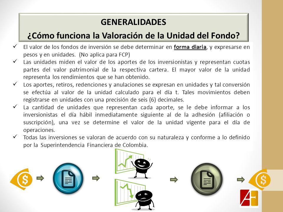 El valor de los fondos de inversión se debe determinar en forma diaria, y expresarse en pesos y en unidades.