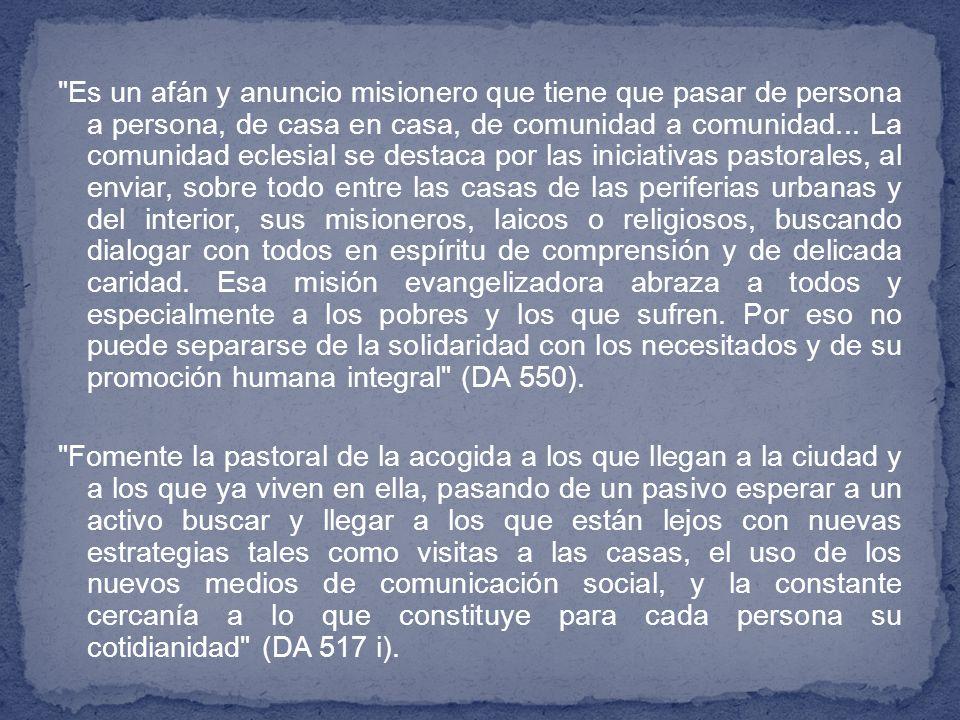 Si se quieren pequeñas comunidades vivas y dinámicas, es necesario suscitar en ellas una espiritualidad sólida, basada en la Palabra de Dios, que las mantenga en plena comunión de vida e ideales con la Iglesia local y, en particular, con la comunidad parroquial.