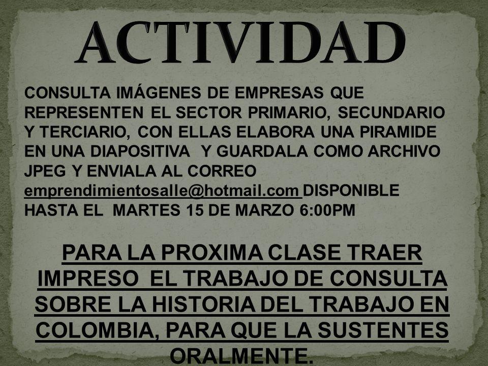 CONSULTA IMÁGENES DE EMPRESAS QUE REPRESENTEN EL SECTOR PRIMARIO, SECUNDARIO Y TERCIARIO, CON ELLAS ELABORA UNA PIRAMIDE EN UNA DIAPOSITIVA Y GUARDALA