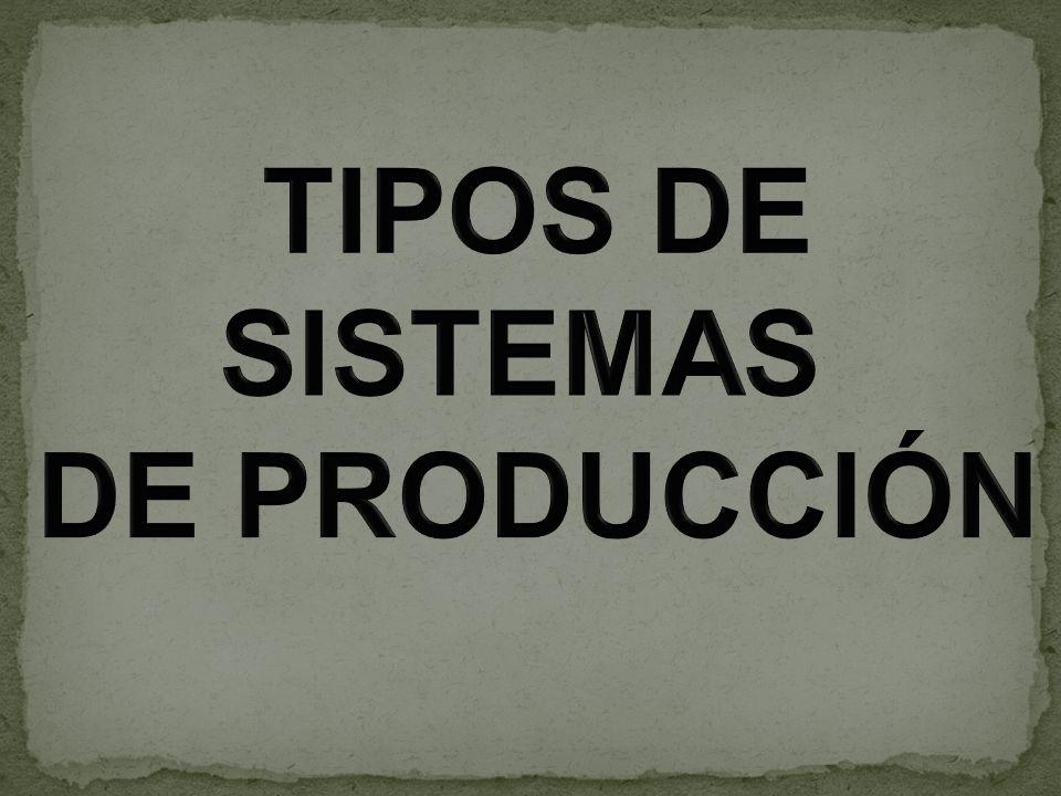 a)PRODUCCIÓN POR TRABAJOS O BAJO PEDIDO Es el utilizado por la empresa que produce solamente después de haber recibido un encargo o pedido de sus productos.