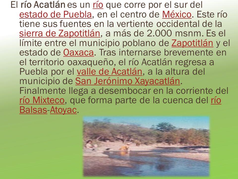 El río Acatlán es un río que corre por el sur del estado de Puebla, en el centro de México. Este río tiene sus fuentes en la vertiente occidental de l