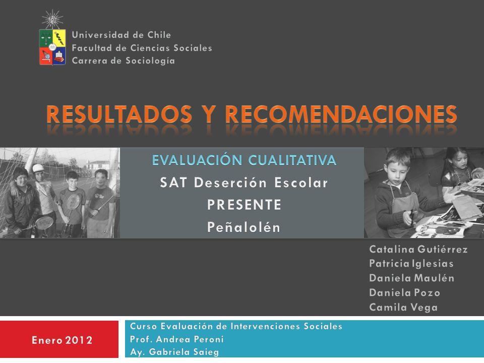 PRESENTACIÓN Diseño y resultados de la evaluación del Sistema de Alerta Temprana de Deserción Escolar PRESENTE.