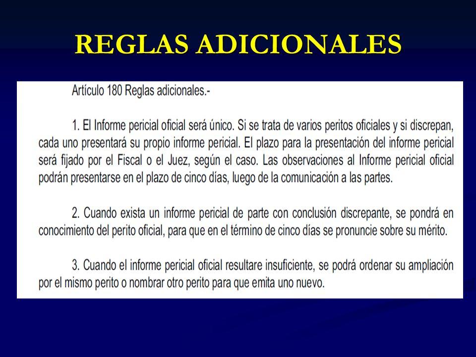 REGLAS ADICIONALES