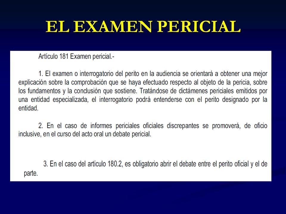 EL EXAMEN PERICIAL