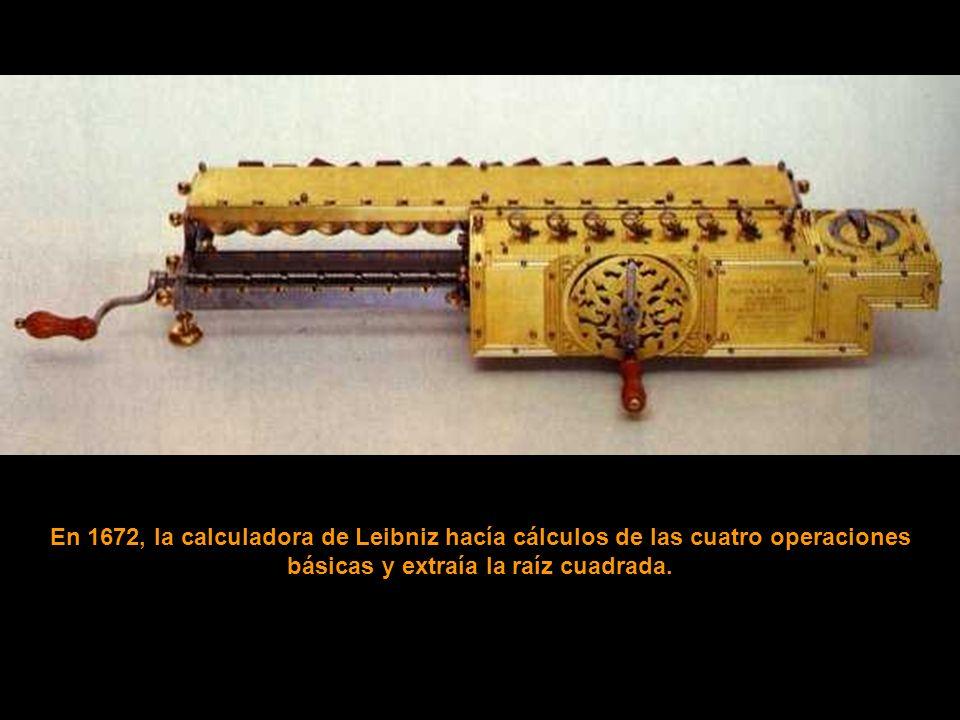 En 1642, la máquina de Pascal intentó calcular.
