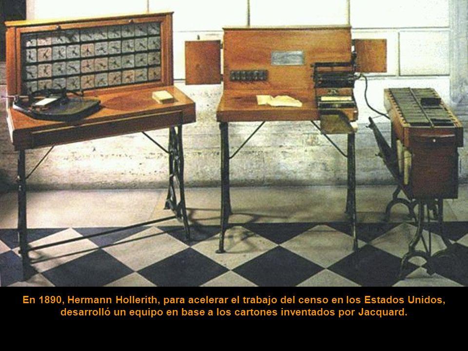 129 años después, en 1801, Joseph Marie Jacquard, dueño de una hilandería, colocó diseños en sus telares, mediante un sistema de cartones perforados.