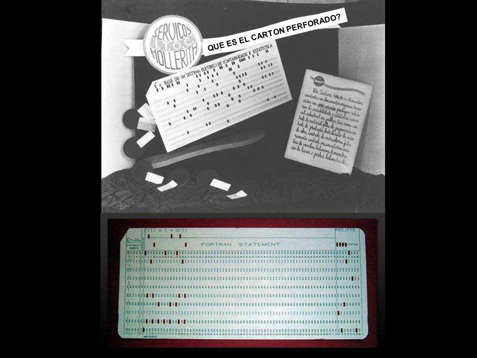 En 1890, Hermann Hollerith, para acelerar el trabajo del censo en los Estados Unidos, desarrolló un equipo en base a los cartones inventados por Jacqu