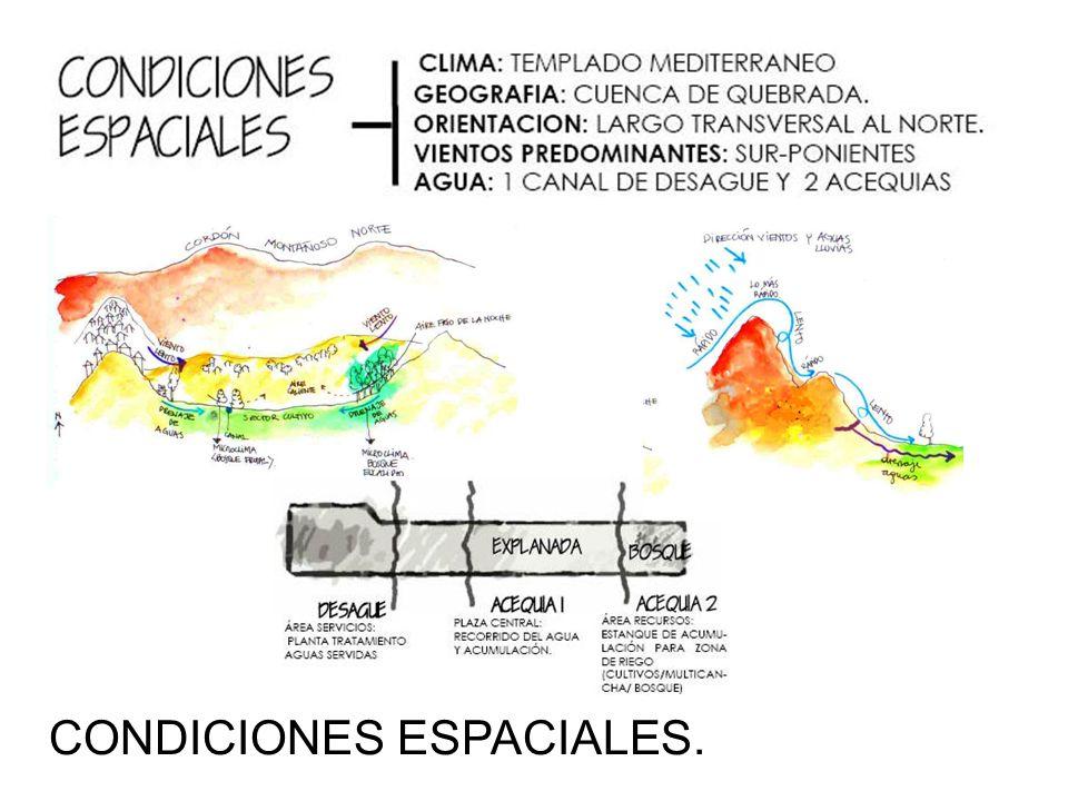 CONDICIONES ESPACIALES.