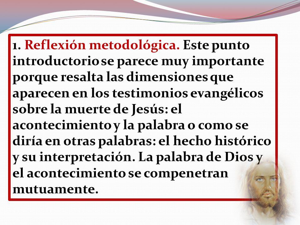 1. Reflexión metodológica. Este punto introductorio se parece muy importante porque resalta las dimensiones que aparecen en los testimonios evangélico
