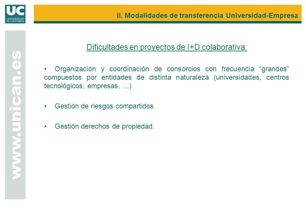 Dificultades en proyectos de I+D colaborativa: Organización y coordinación de consorcios con frecuencia grandes compuestos por entidades de distinta n