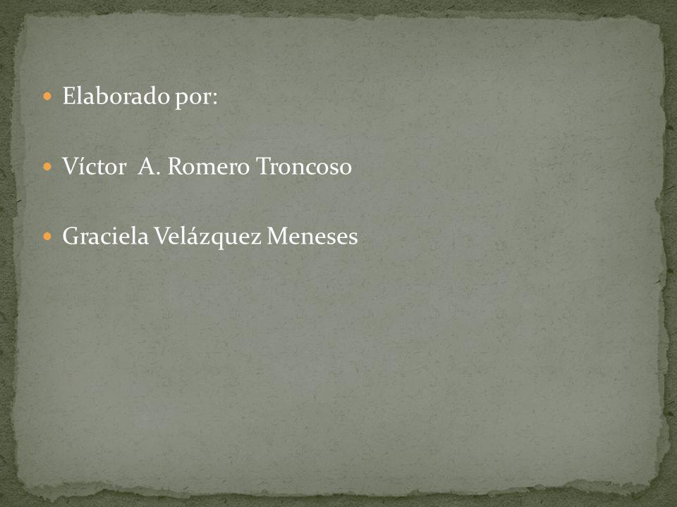 Elaborado por: Víctor A. Romero Troncoso Graciela Velázquez Meneses