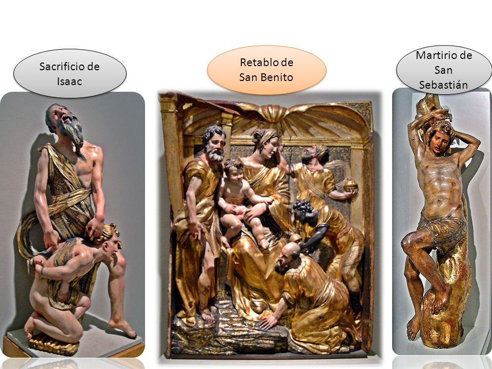 Retablo de San Benito Sacrificio de Isaac Martirio de San Sebastián
