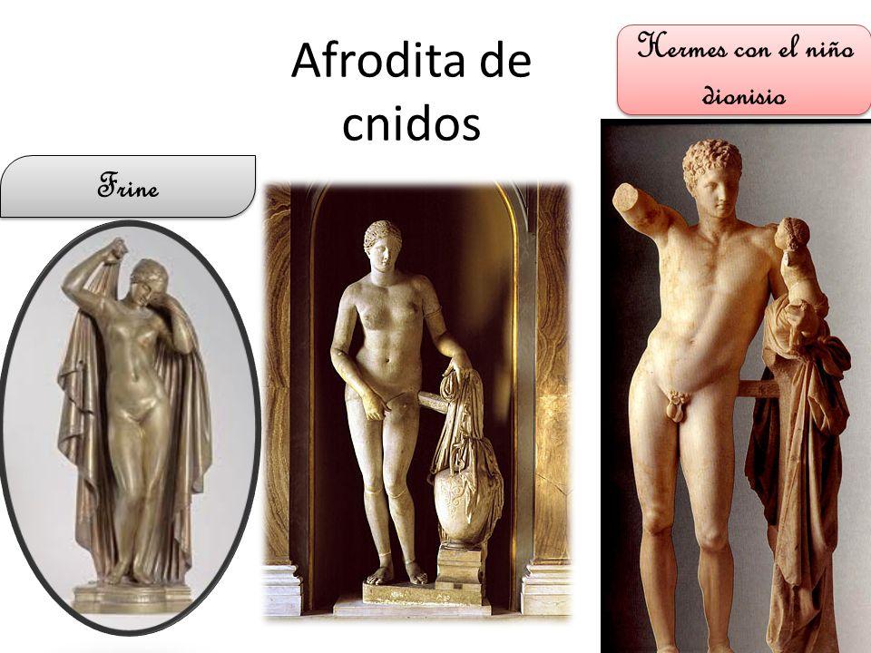 Afrodita de cnidos Frine Hermes con el niño dionisio
