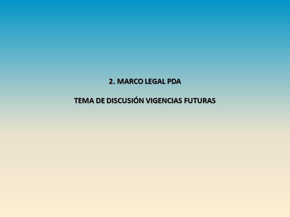 2. MARCO LEGAL PDA TEMA DE DISCUSIÓN VIGENCIAS FUTURAS