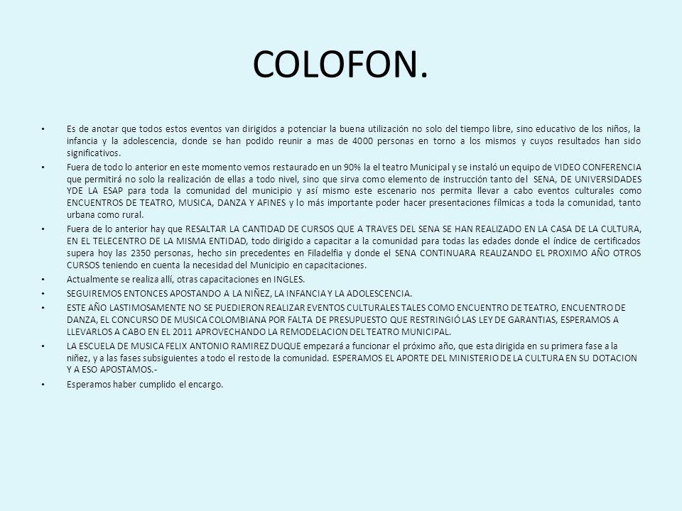 COLOFON.
