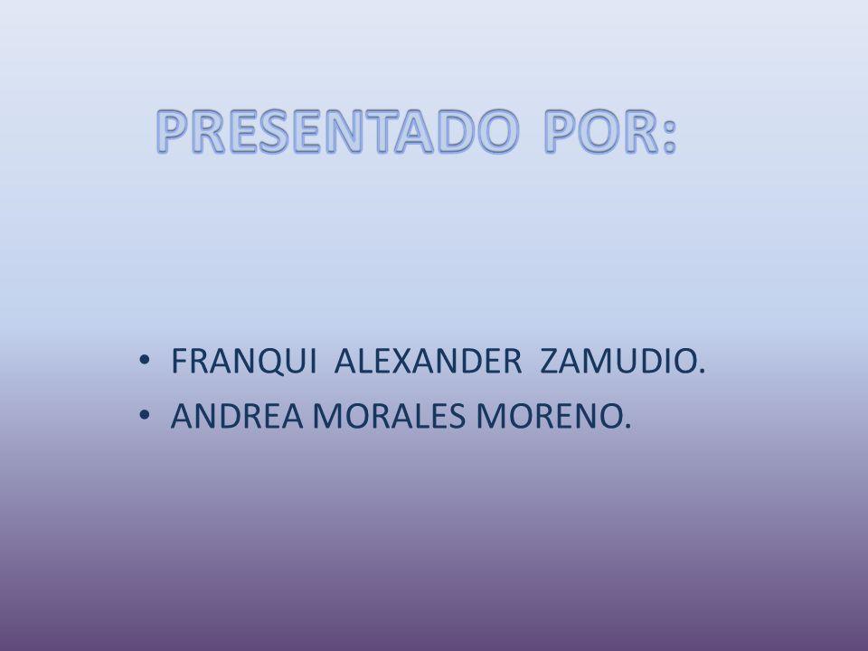 FRANQUI ALEXANDER ZAMUDIO. ANDREA MORALES MORENO.
