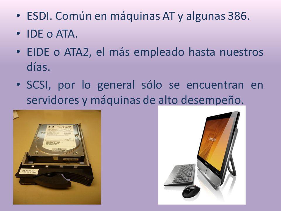 ESDI.Común en máquinas AT y algunas 386. IDE o ATA.