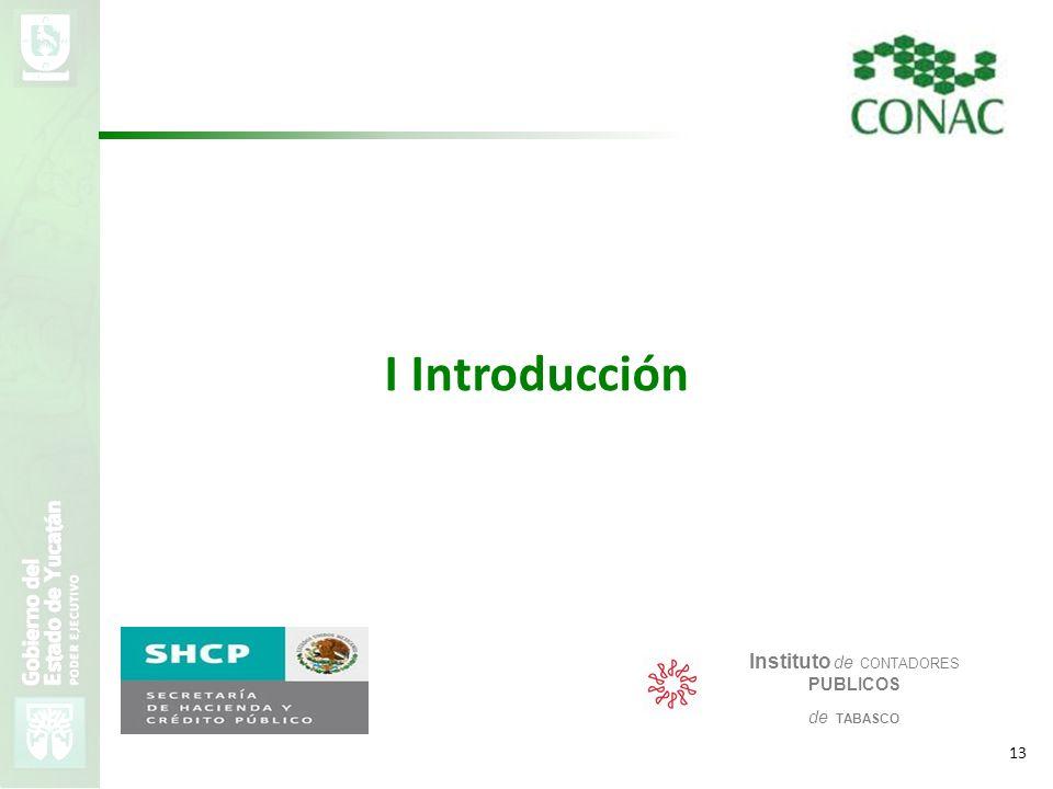 VMZH 13 I Introducción Instituto de CONTADORES PUBLICOS de TABASCO