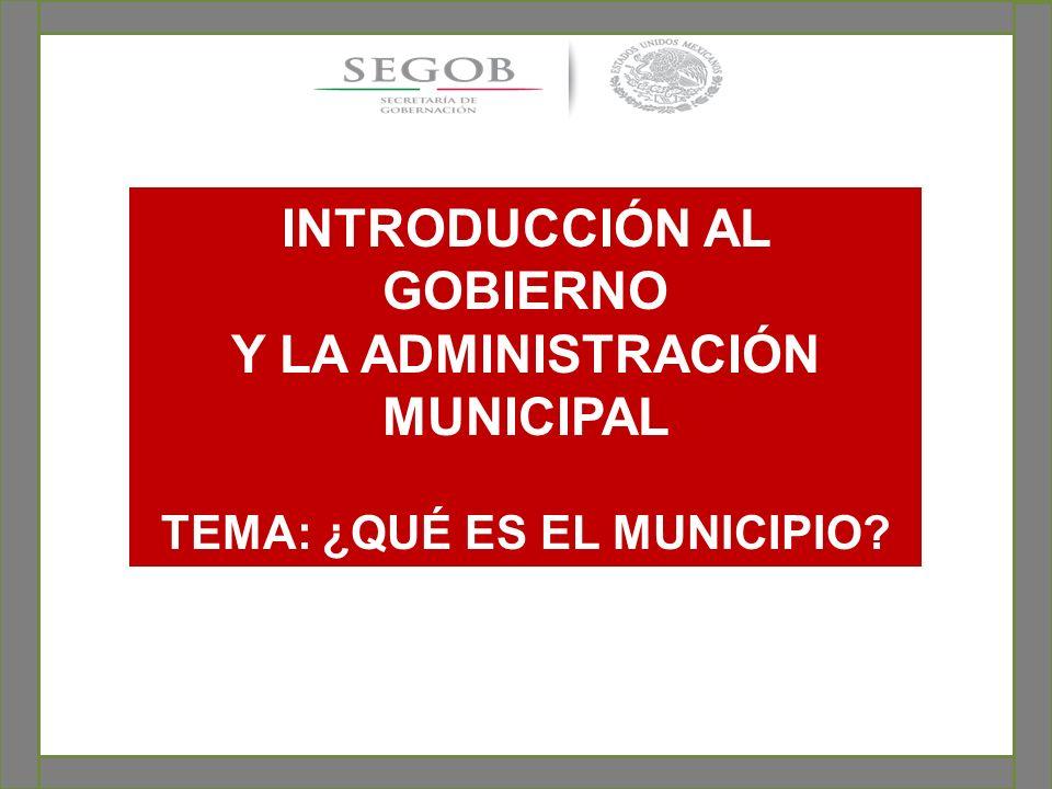 1.- Antecedentes del municipio en México.