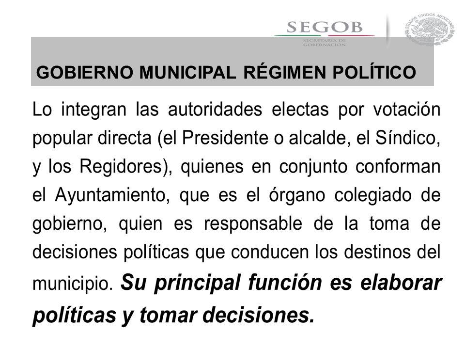 GOBIERNO MUNICIPAL RÉGIMEN POLÍTICO