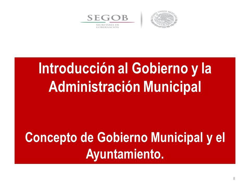 EL GOBIERNO EN EL MUNICIPIO.ayuntamiento.