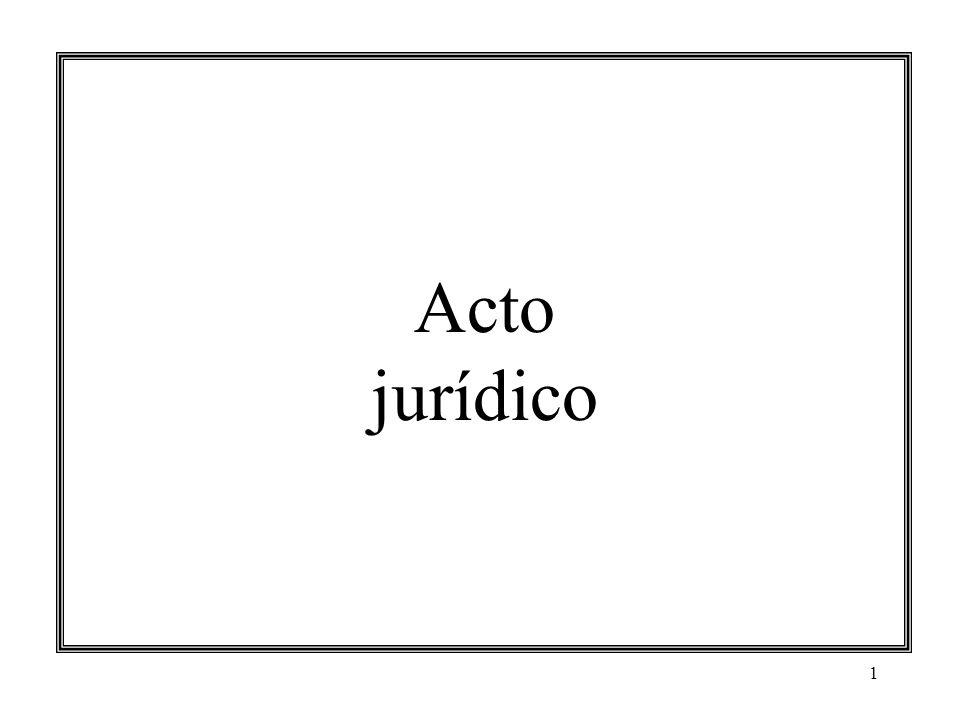 1 Acto jurídico