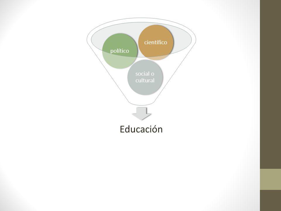Educación social o cultural políticocientífico