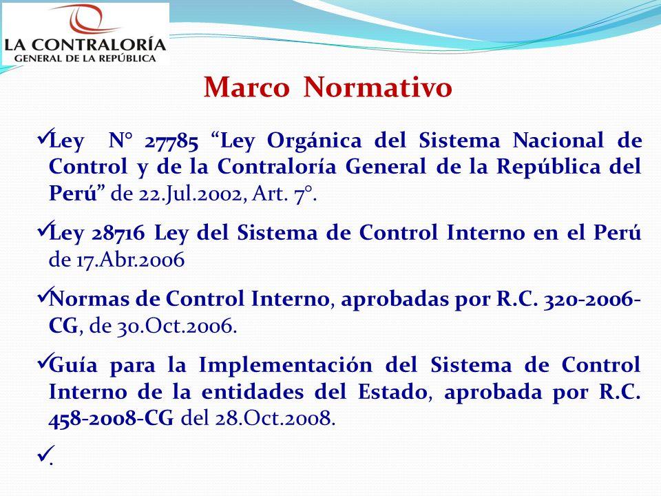 Ley N° 27785 Ley Orgánica del Sistema Nacional de Control y de la Contraloría General de la República del Perú de 22.Jul.2002, Art. 7°. Ley 28716 Ley