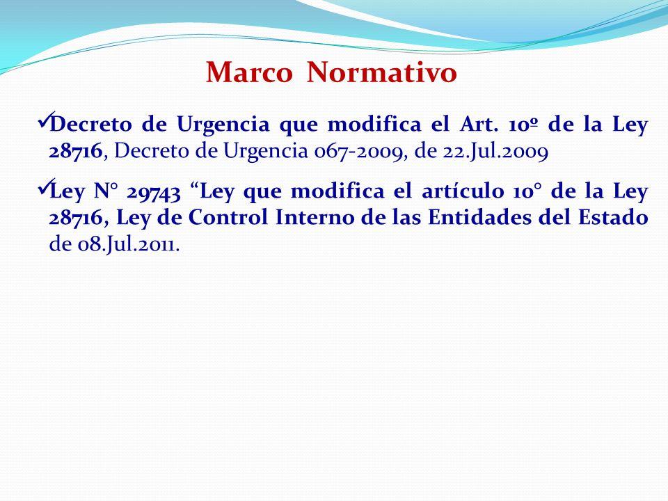 Decreto de Urgencia que modifica el Art. 10º de la Ley 28716, Decreto de Urgencia 067-2009, de 22.Jul.2009 Ley N° 29743 Ley que modifica el artículo 1