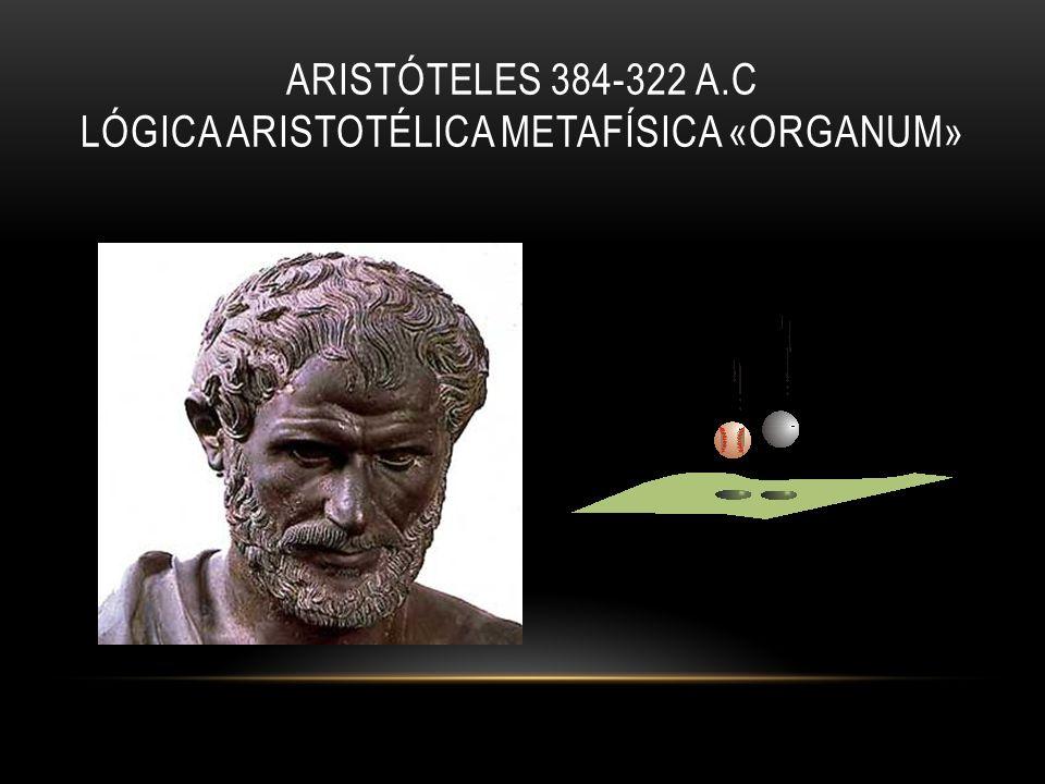 ARISTÓTELES 384-322 A.C LÓGICA ARISTOTÉLICA METAFÍSICA «ORGANUM»